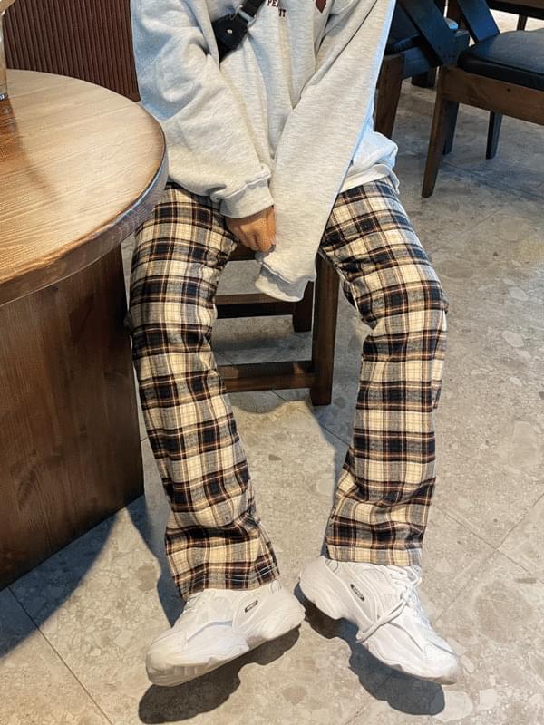 Cinnamon Check Pants
