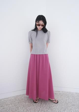slice cotton full-length skirt