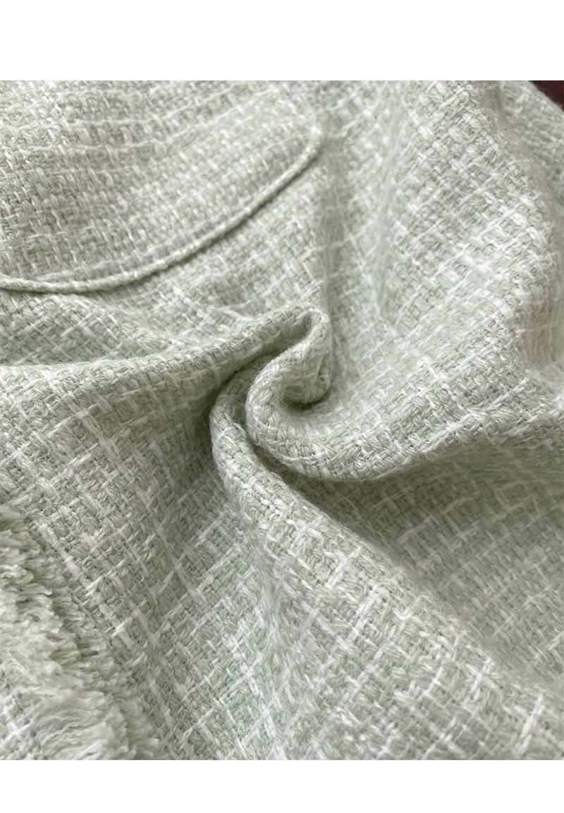 55-77 Honey V Tweed Short Jacket
