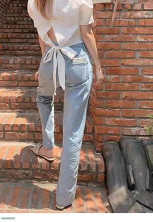 Jung Seok Straight Fit Denim Pants