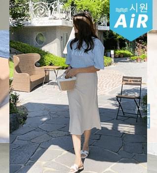 French Linen Backband Skirt #53031