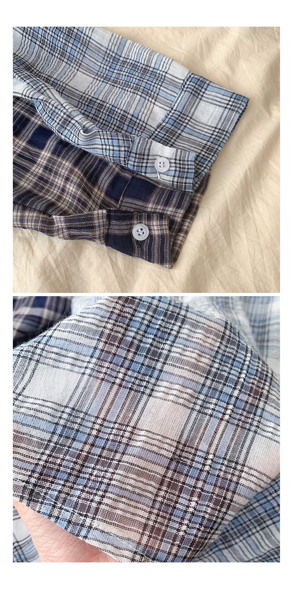Comma check shirt, thin long sleeve, recommended as a summer shirt :D