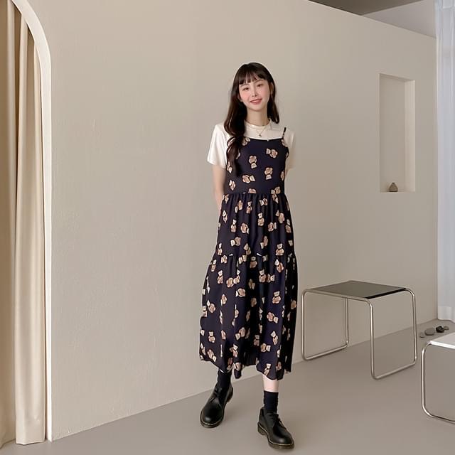 Bear Long Bustier Dress
