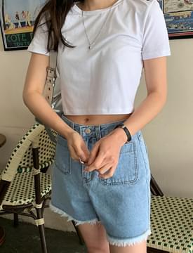 Lush Cotton Crop Short Sleeve Tee