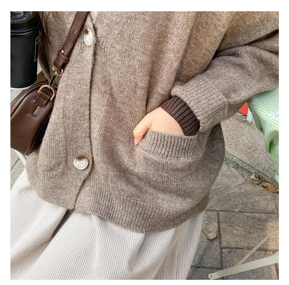 Big Size 66-120 London Loose-fit Fit Knitwear Cardigan