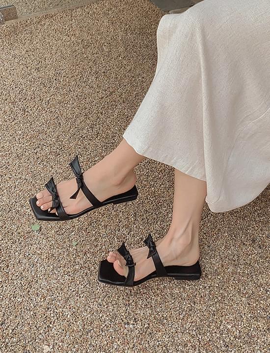floret ribbon slippers