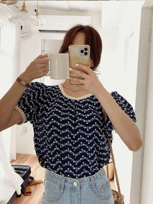 Needle Embroidery Color Blouse