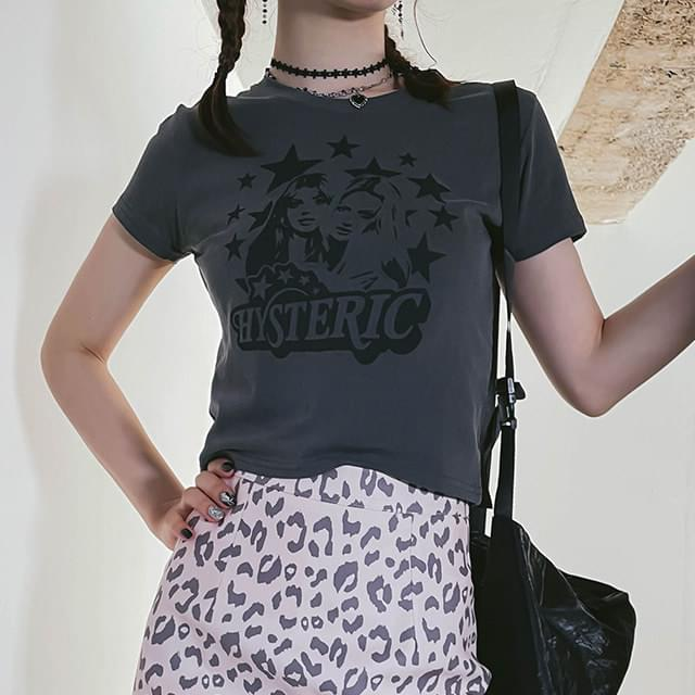 hysteric cropped t-shirt