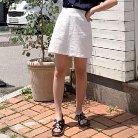 Amy Linen Banding Skirt