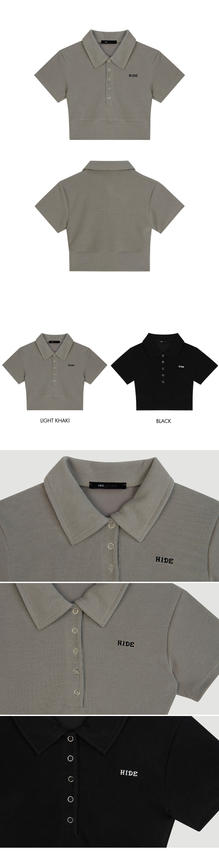 HIDESlim Fit Crop Polo Shirt