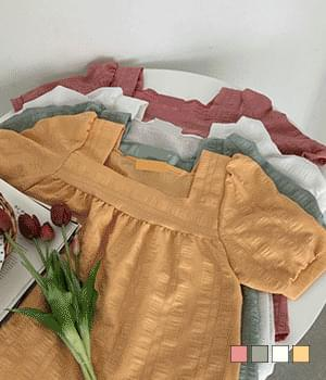Florence square neck short sleeve blouse