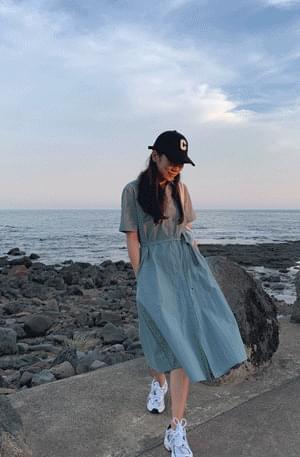 MMMM/ Paper Rustic D Ring Shirt Dress