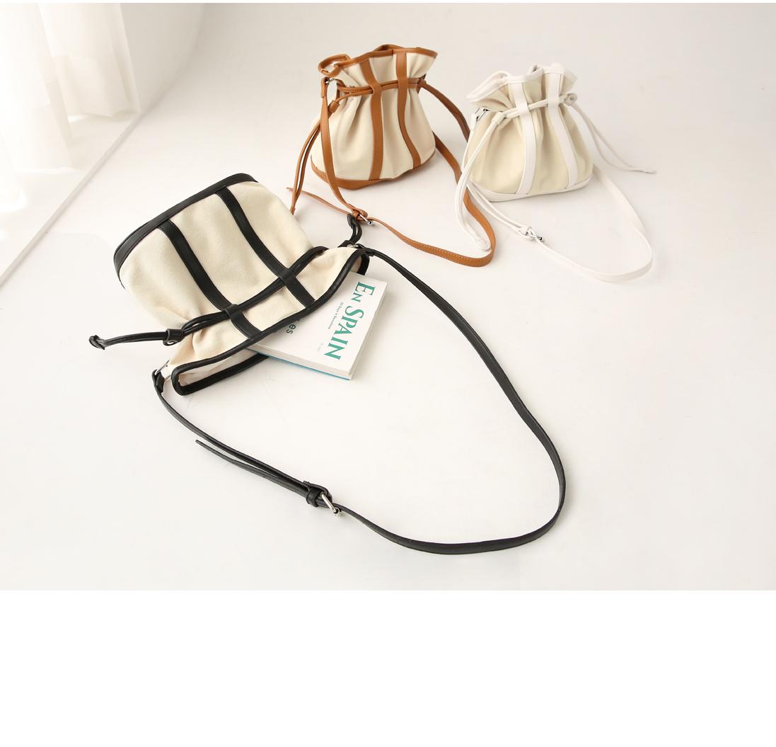Contrast Accent Mini Bucket Bag