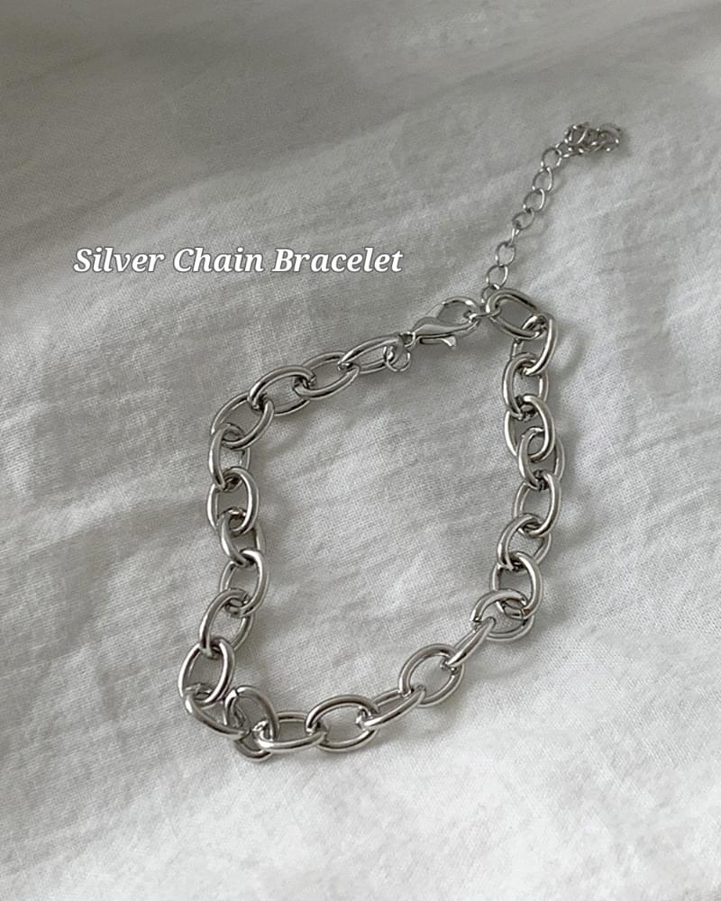 Grow Simple Daily Silver Chain Bracelet