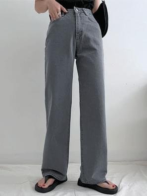 Cover Gray Denim Wide Pants