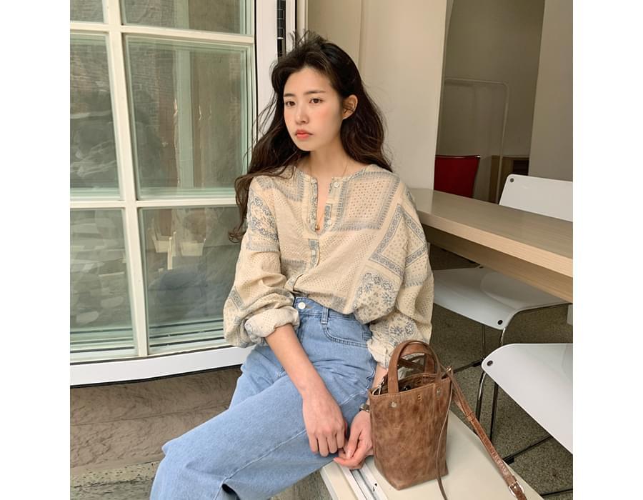 Paisley round Boxy blouse