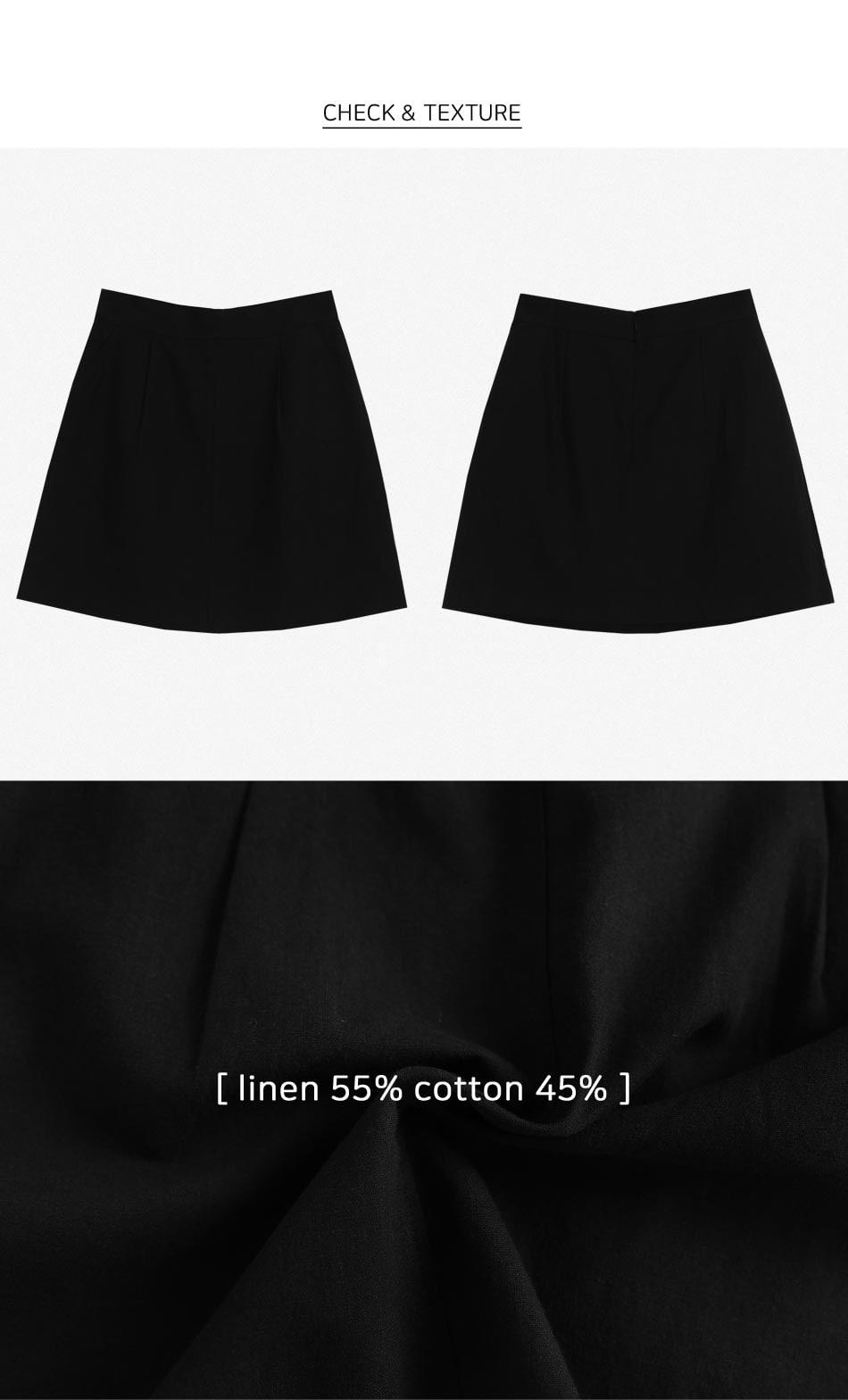linen mini pintux skirt