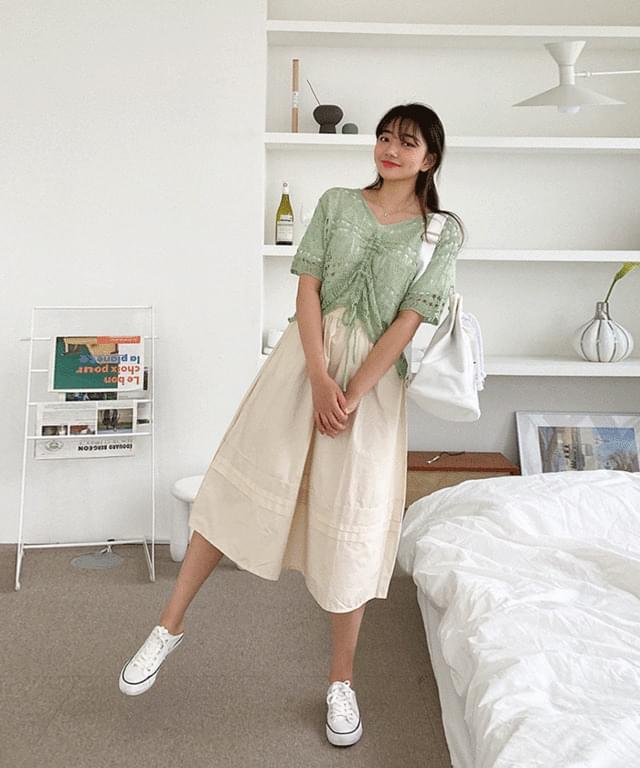 Big 26-34 Inch Harlan Banding Long Cotton Skirt