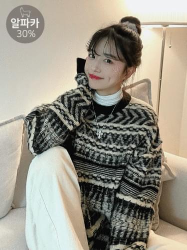 Alpaca Pattern Knitwear
