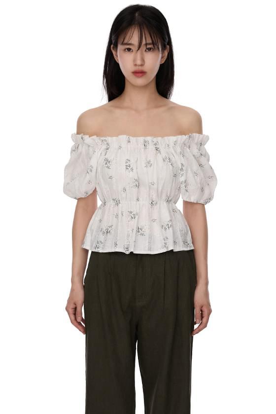 Jasmine off-the-shoulder blouse