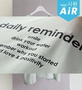 Wrinkle-free Reminder Long T-shirt #109105