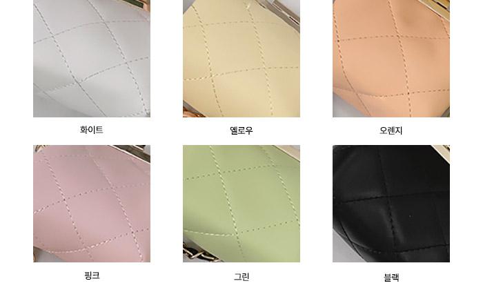 round mini quilting crossbody bag