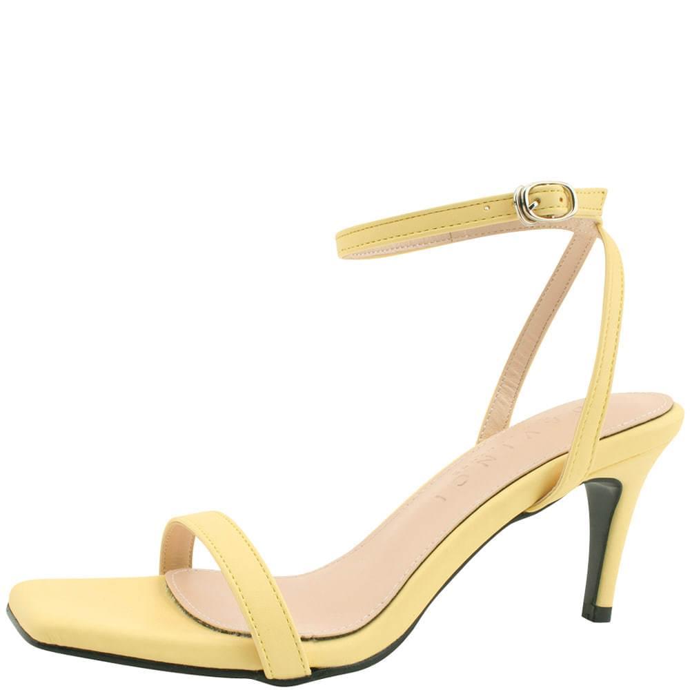 韓國空運 - Ankle Slim Strap High Heel Sandals Yellow 涼鞋