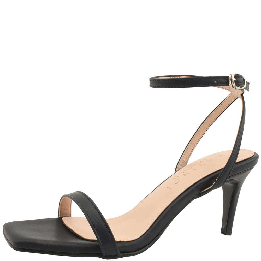 Ankle Slim Strap High Heel Sandals Navy