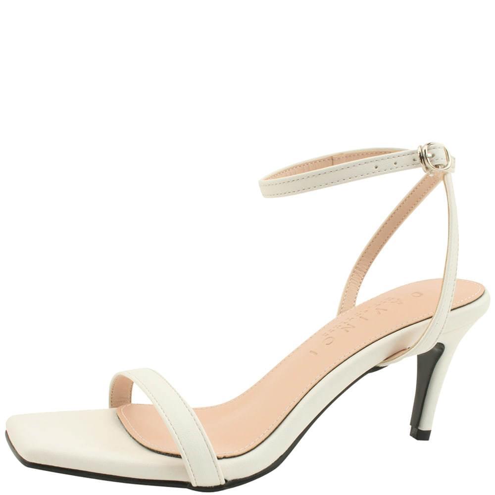 Ankle Slim Strap High Heel Sandals White