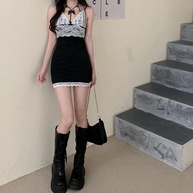 Arin Lace Slip Strap Thong Sleeveless Dress