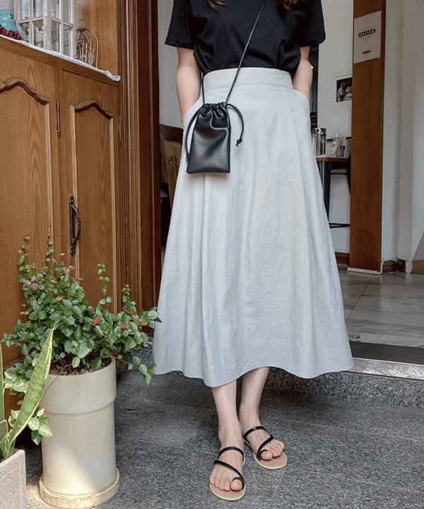 Envy flared long skirt