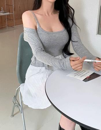 Thumb Yeori Fit Sleeveless Cardigan Set