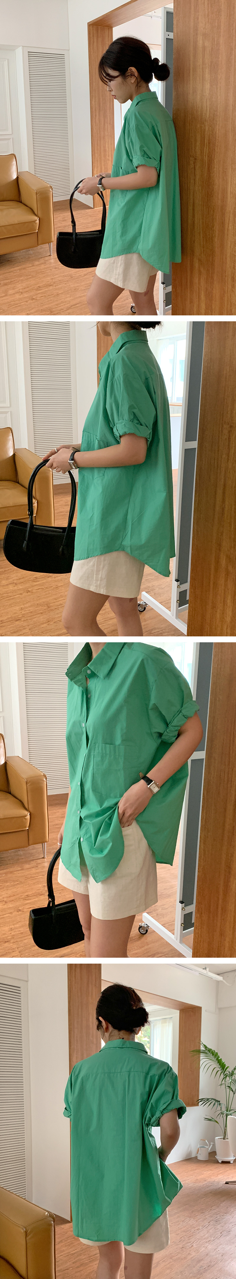 Basic Hemp Prinen Half Pants