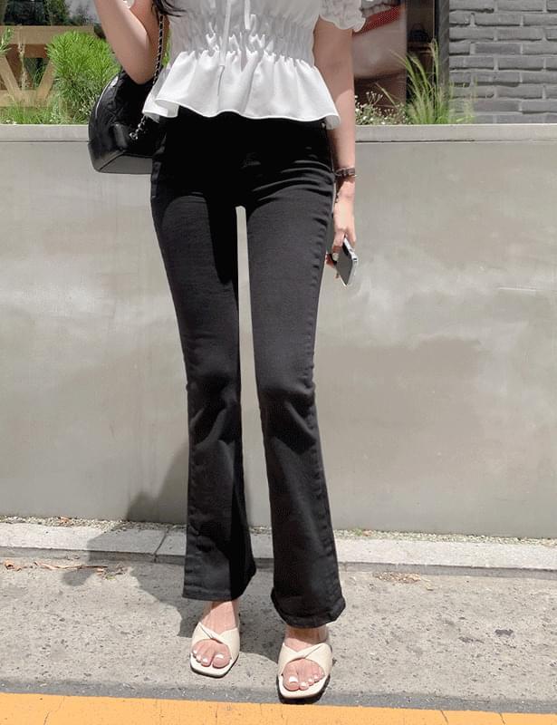 wains black Flared pants