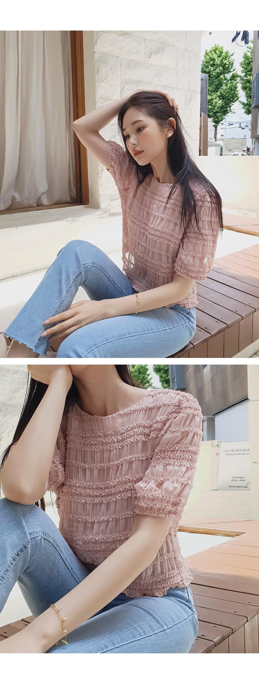 Maring frill blouse