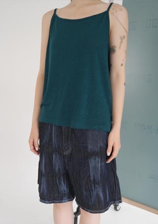 linen x rayon flow sleeveless