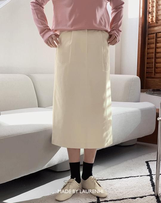 Allen Cotton Pintuck Long Skirt - 3 color