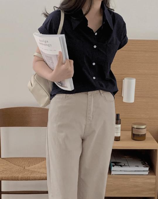 Funnel Pocket Short Sleeve Shirt - 3 color