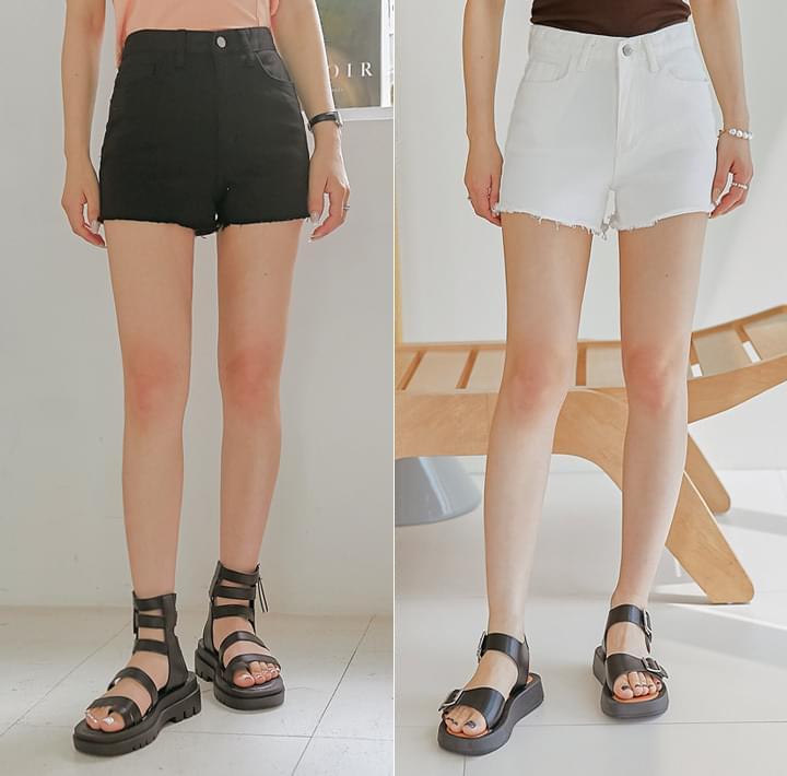 Frayed Hem Mini Shorts