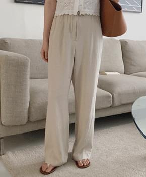 Kiken Linen Banding Pants