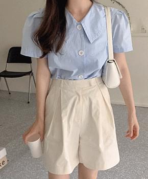 naring collar blouse