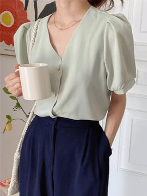 dongle button blouse