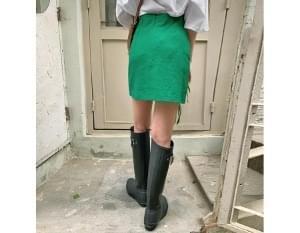 Caribbean linen mini skirt