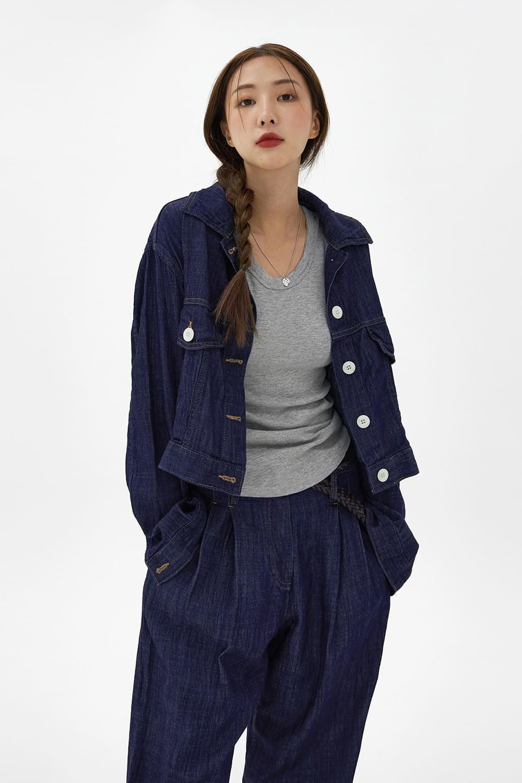 Vintage linen denim Jacket