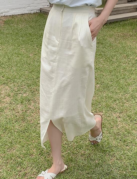 Daisy Linen Pintux Skirt