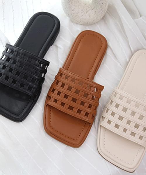 waffle lattice slippers
