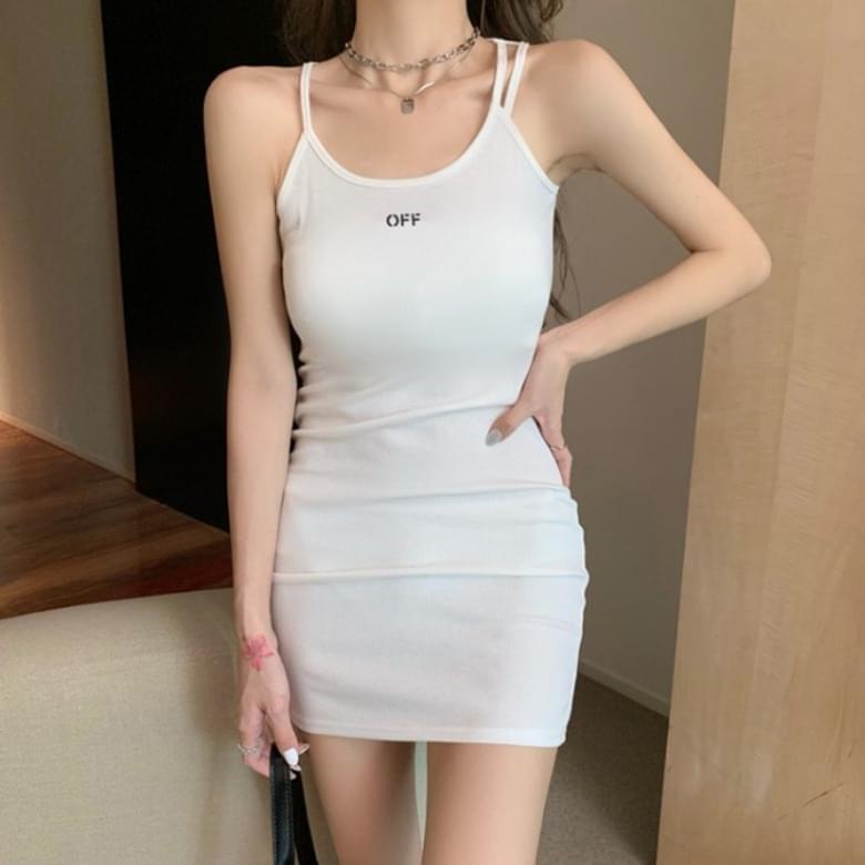 Sporty Casual Slim Off Thong Sleeveless Dress
