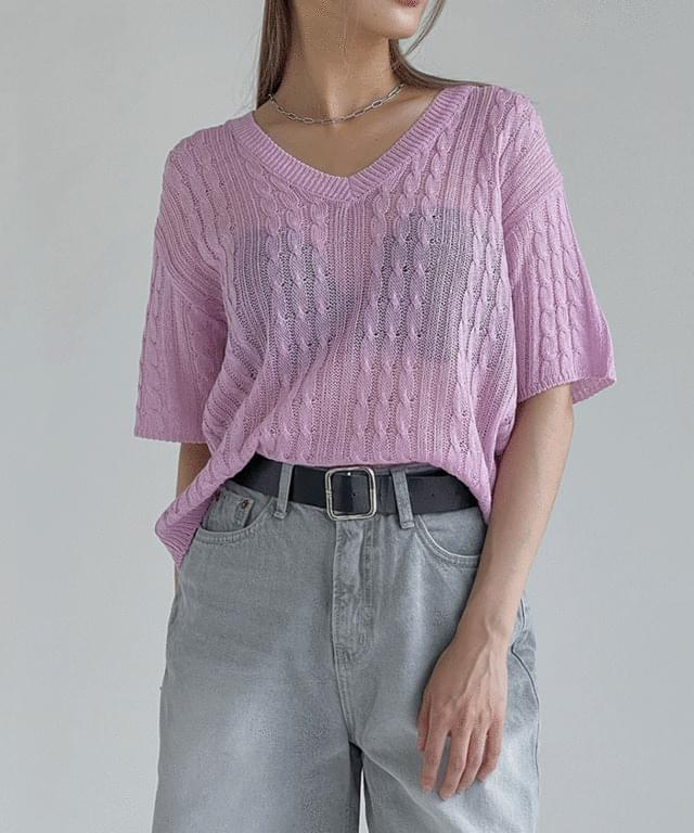 Simply Twisted Short Sleeve Knitwear