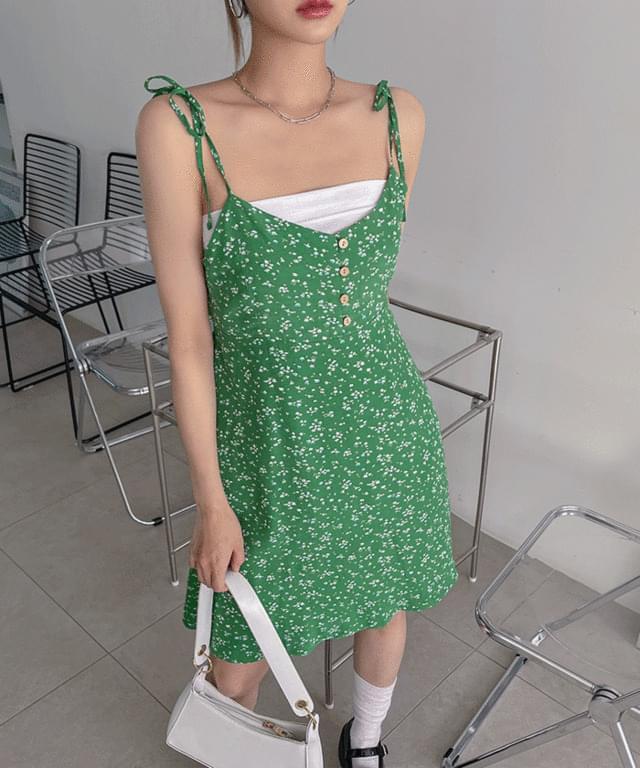 Laurel Flower Sleeveless Mini Dress