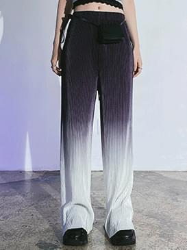 Gradient Brand Wide Pants